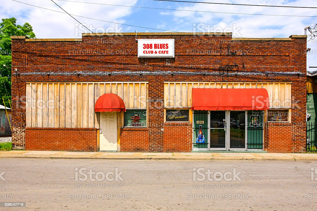 The 308 Blues club and cafe in Indianola MS stock photo