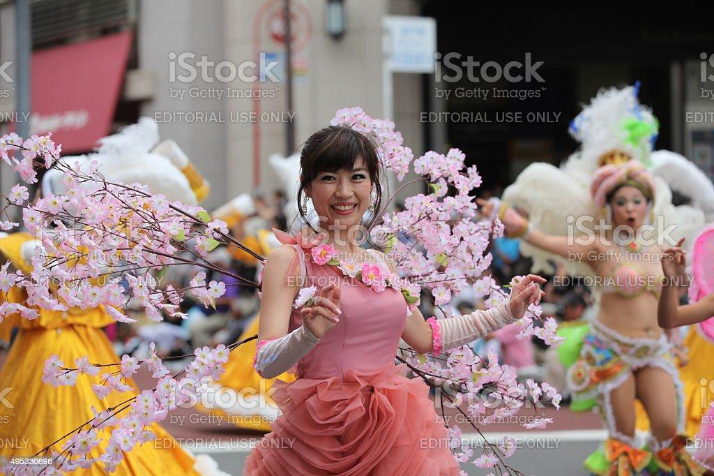 The 33rd Asakusa Samba Carnival (2014) stock photo