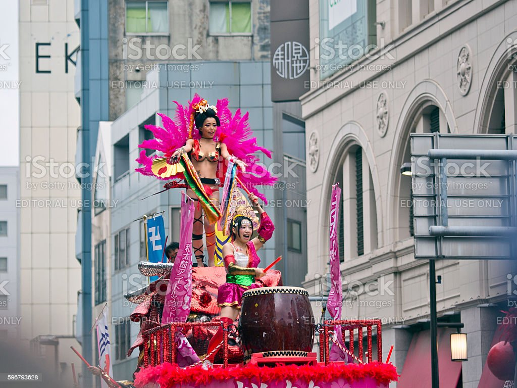 The 35th Asakusa Samba Carnival (2016) - Taiko Drum Idol stock photo