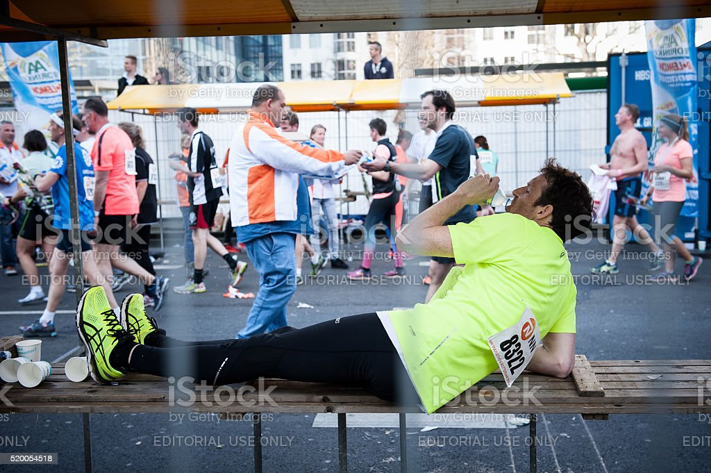 The 36th NN Marathon Rotterdam, The Netherlands. stock photo