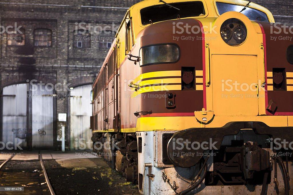The 44 class Diesel locomotive at Eveleigh train yard, Sydney stock photo