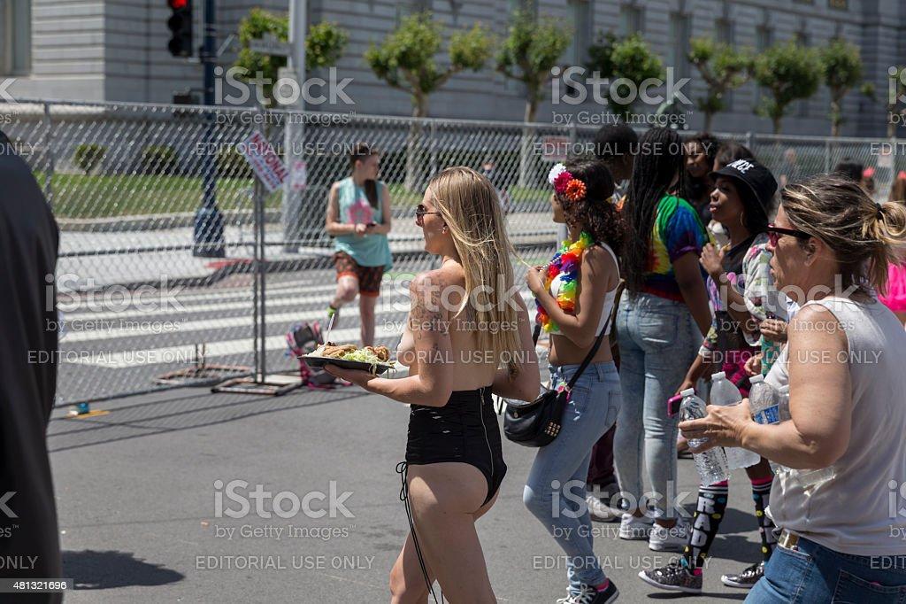 The 45th Annual San Francisco Pride Celebration & Parade stock photo