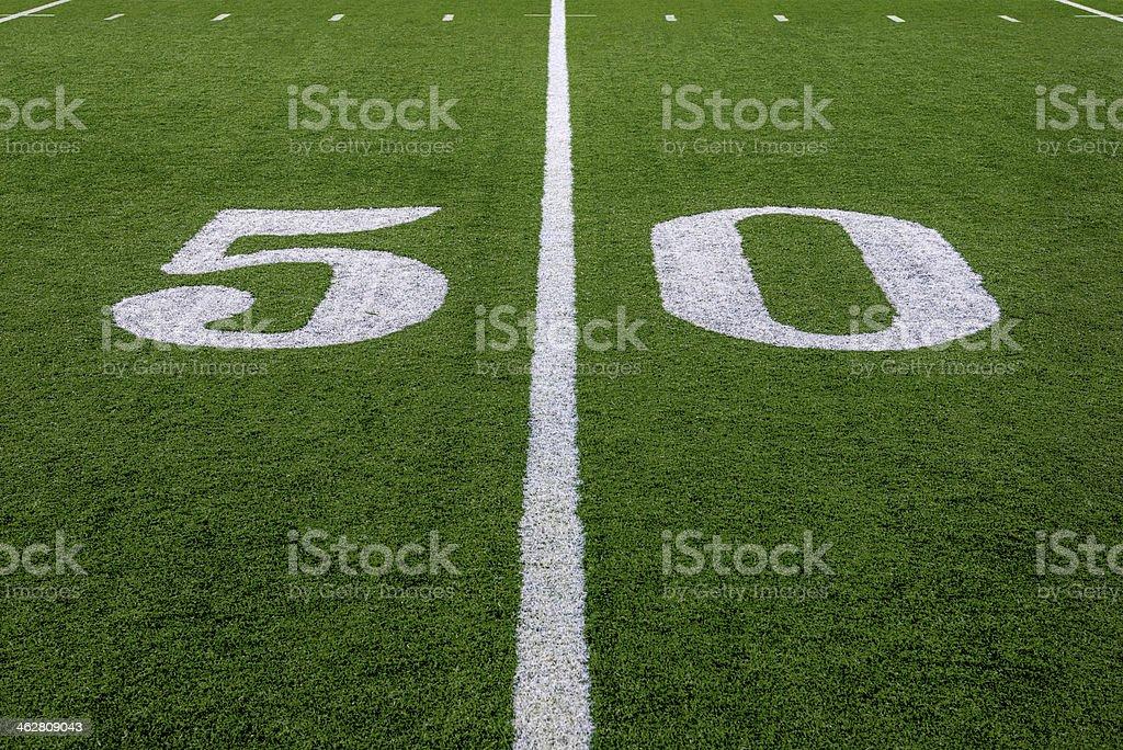 The 50 Yard Line stock photo