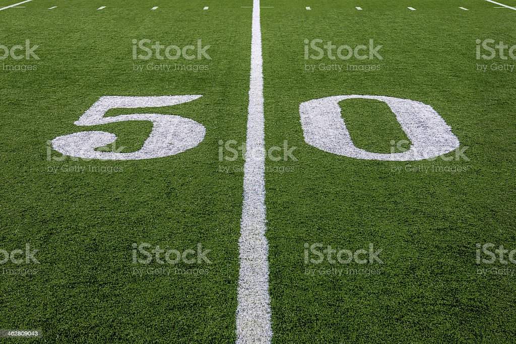 The 50 Yard Line stock photo