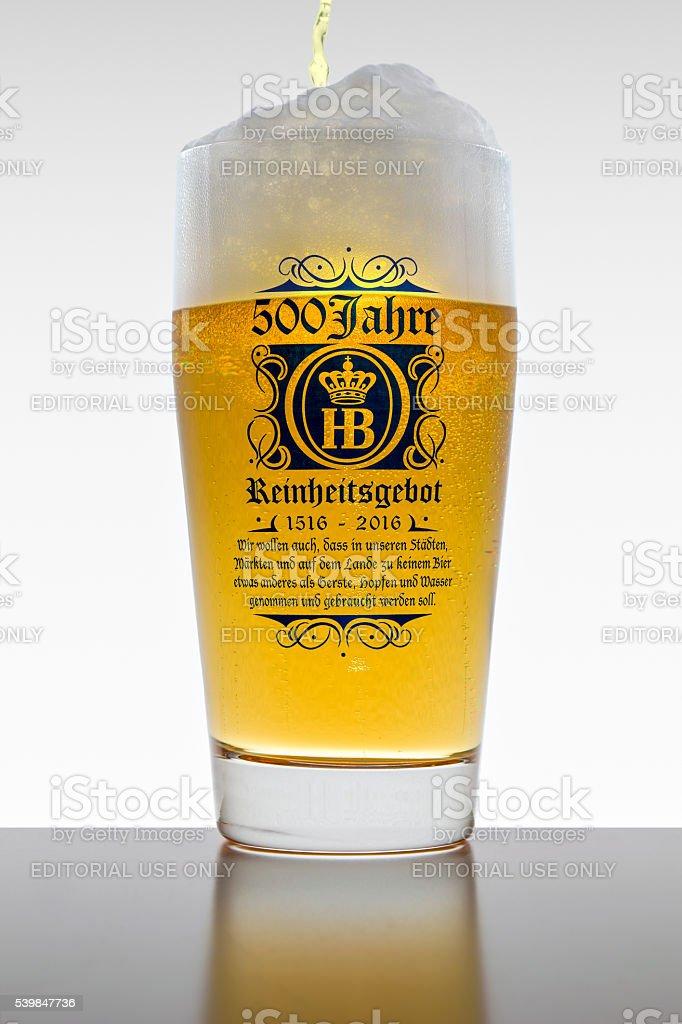 The 500 years of Reinheitsgebot - German Beer Purity Law stock photo