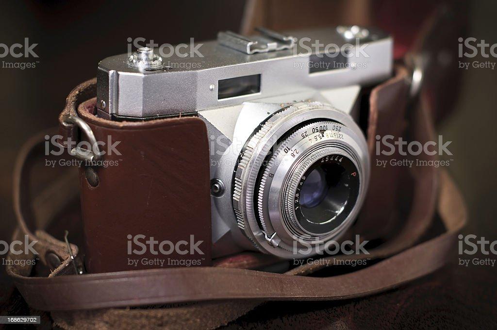 The 50s vintage photo camera royalty-free stock photo