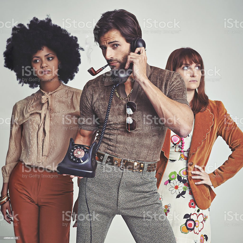 The 70's called, it wants it's style back stock photo