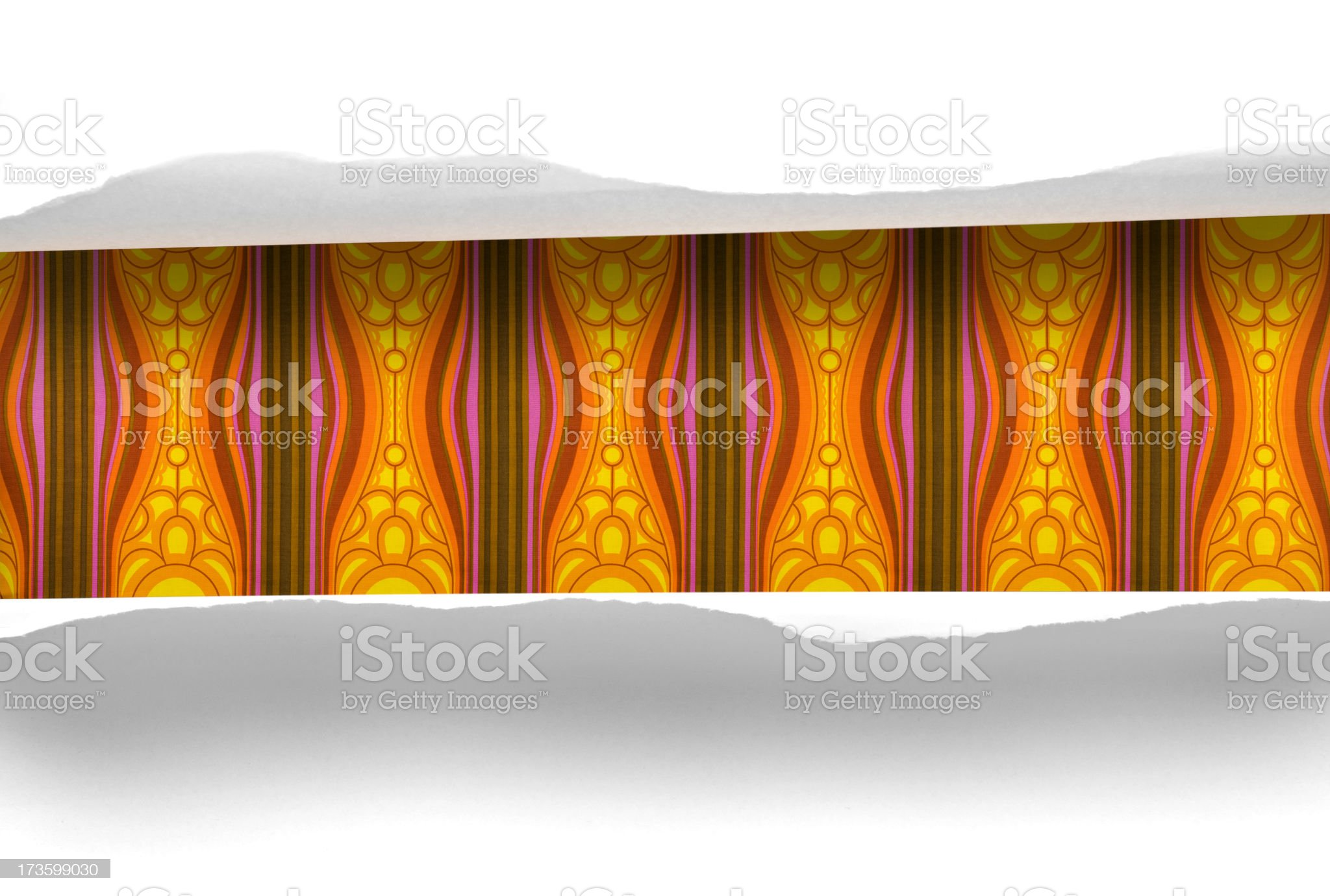 The 70s. revealed wallpaper royalty-free stock photo