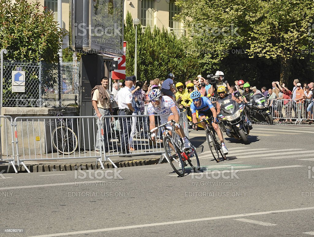 The 99th cycle race 'Tour de France' in Pau stock photo