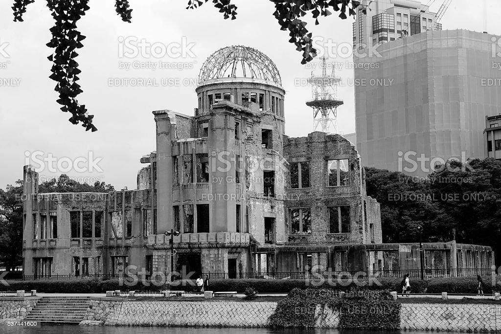 The A Bomb Dome, Hiroshima stock photo