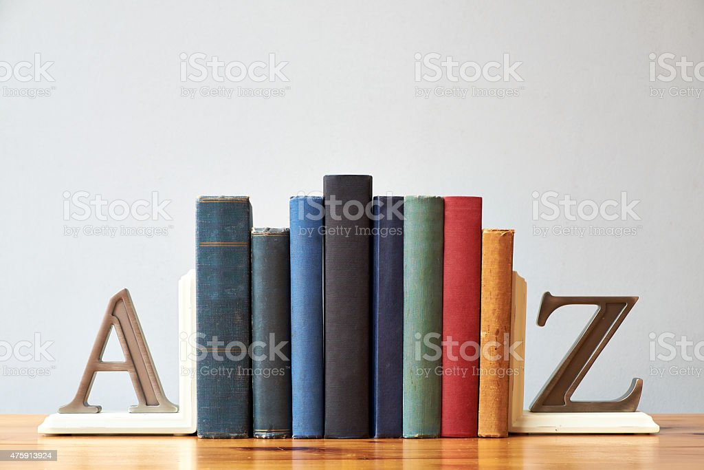 The A To Z Of Books stock photo