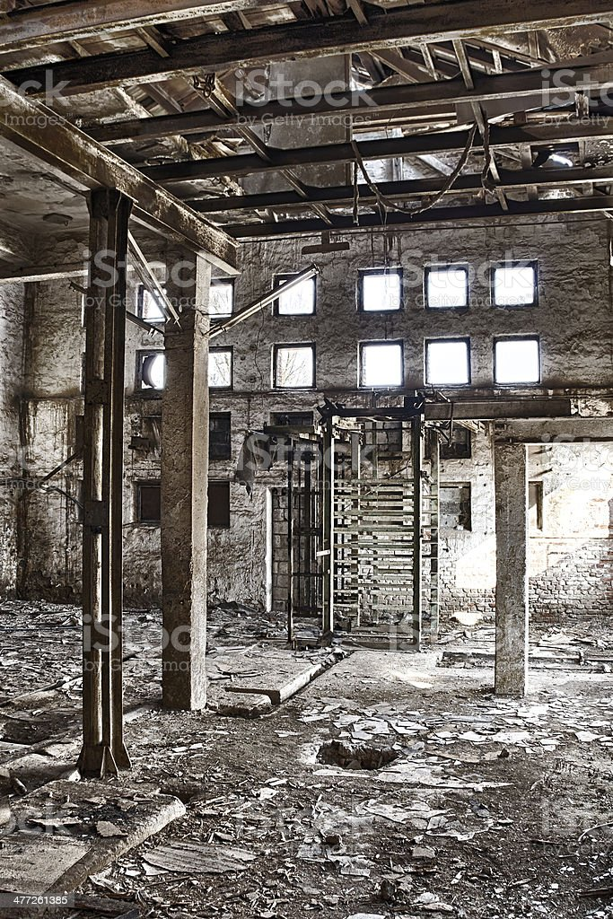 The abandoned factory royalty-free stock photo