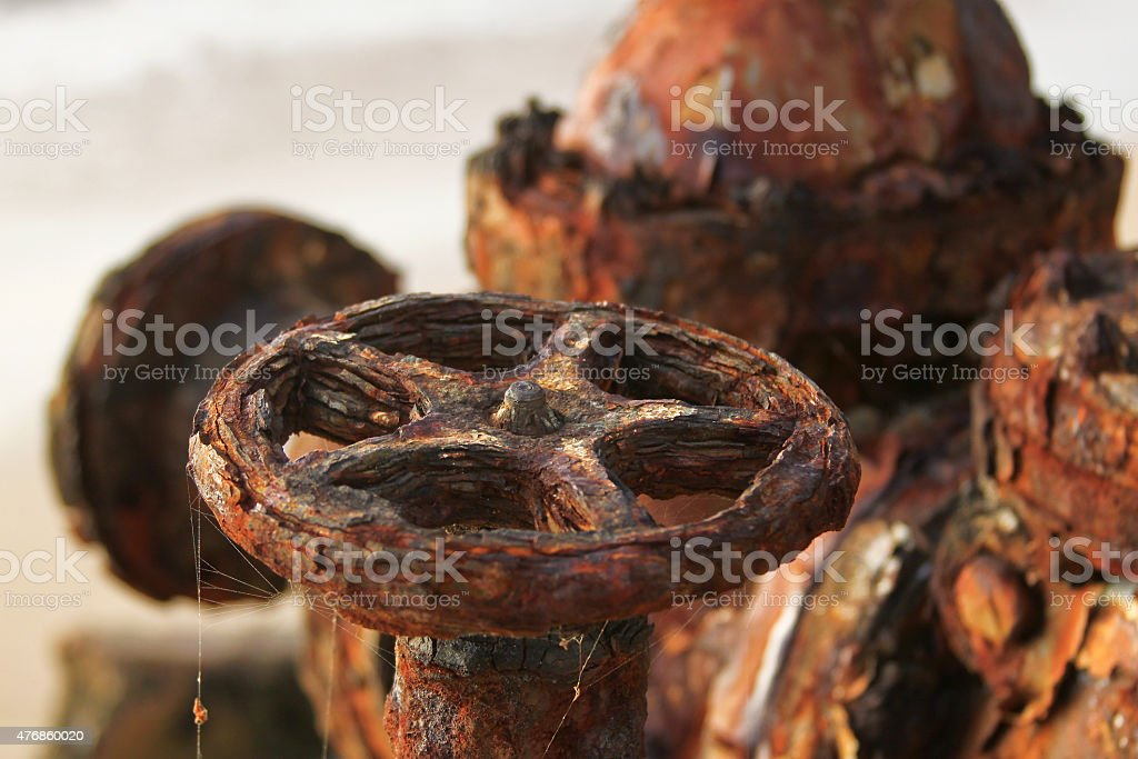 The abandoned fuel pipelines stock photo