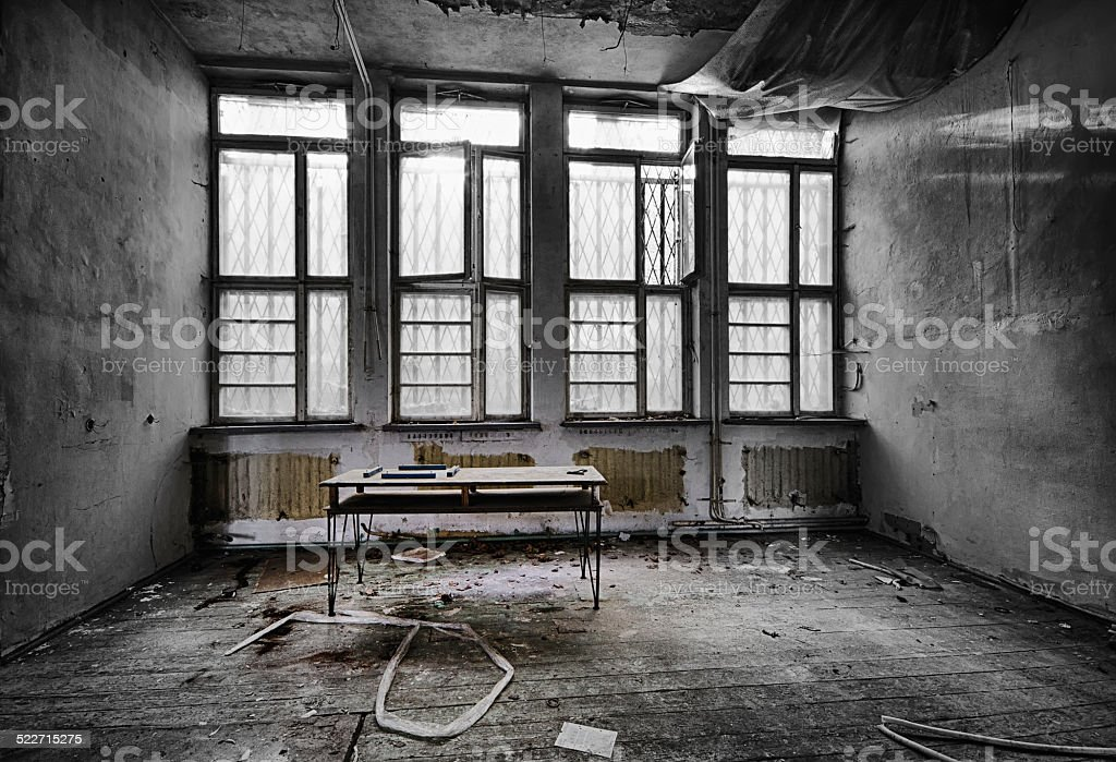 The abandoned school stock photo