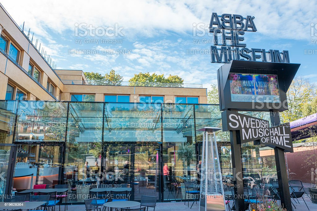 The ABBA museum in Stockholm stock photo