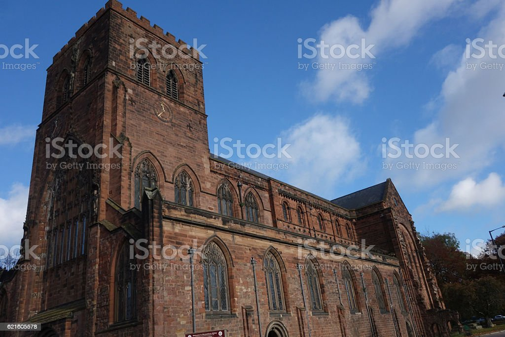 The Abbey at Shrewsbury stock photo