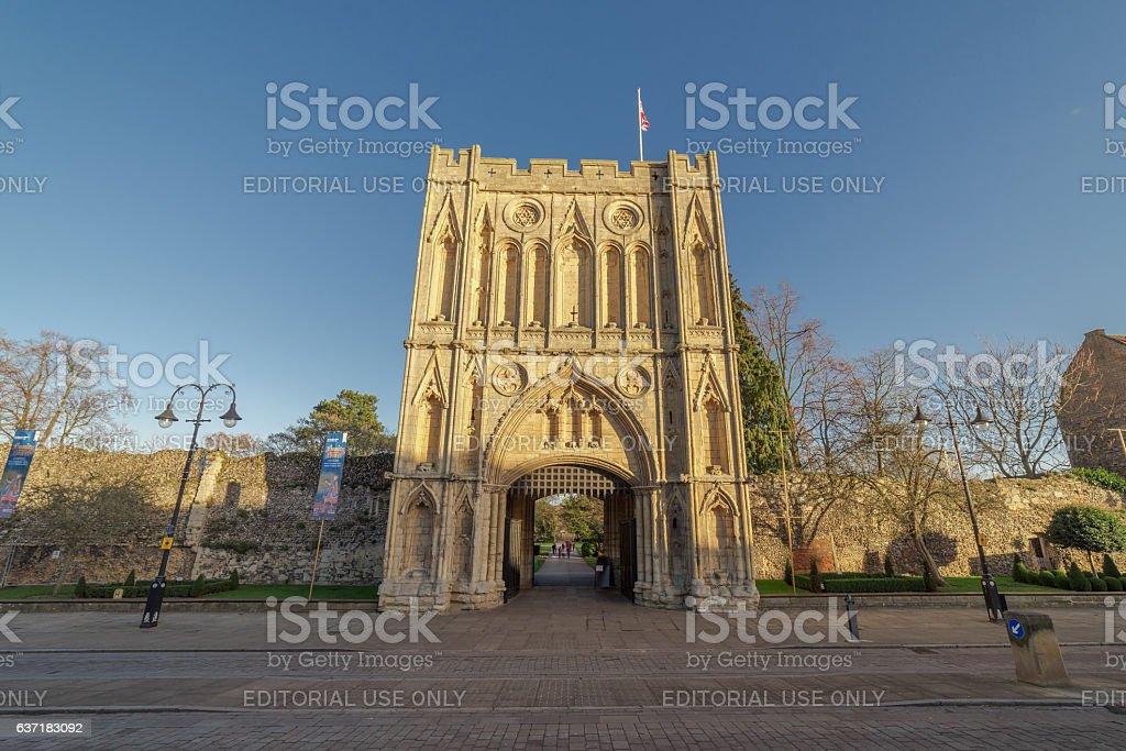 The Abbey Gardens, Bury St Edmunds stock photo