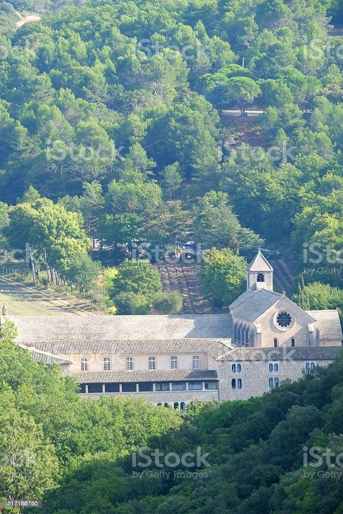 The abbey Notre-Dame de Sénanque - Luberon stock photo