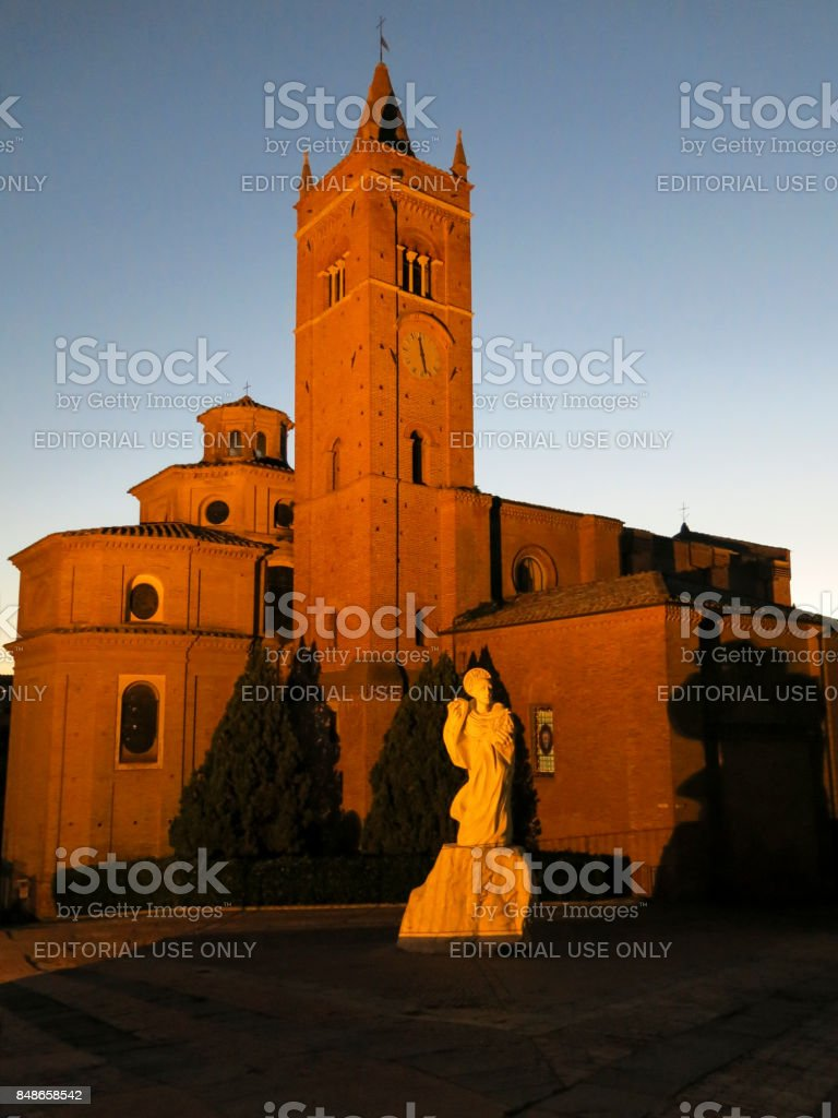 The Abbey of Monte Oliveto Maggiore is a large Benedictine monastery in the Italian region of Tuscany, near Siena. stock photo