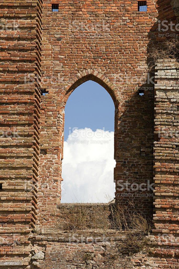 the Abbey of San Galgano royalty-free stock photo