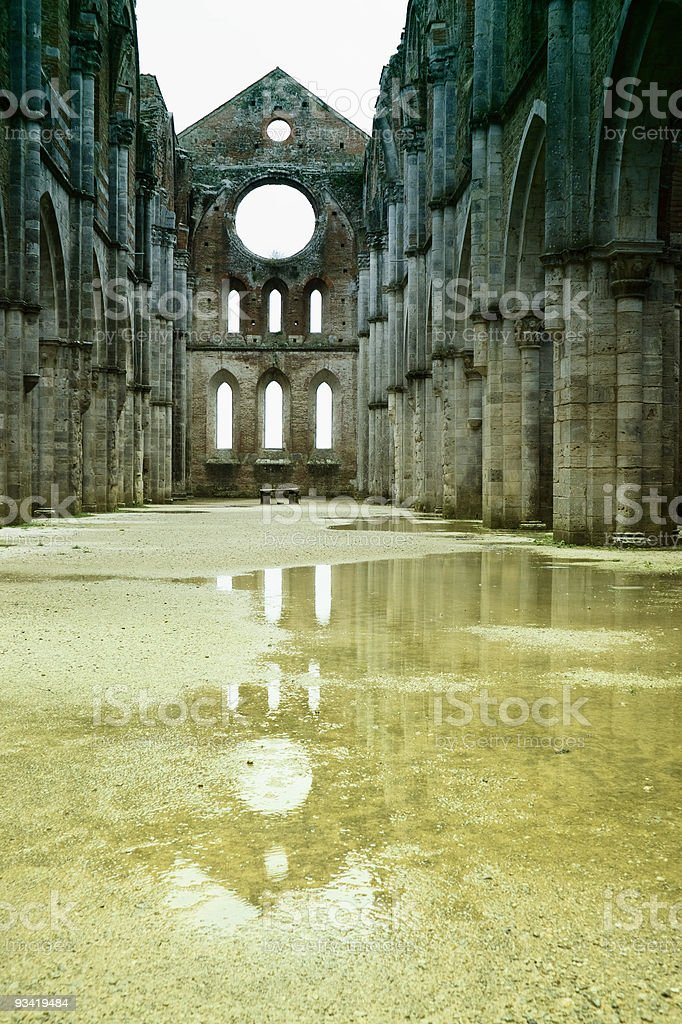 The Abbey of San Galgano stock photo
