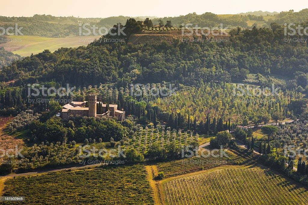 The Abbey of Sts. Severo and Martirio stock photo