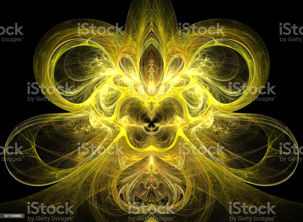 The abstract image similar to a fly or a bee. stock photo