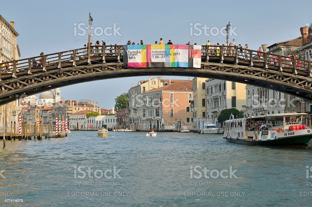 The Academy Bridge in the Grand Canal stock photo