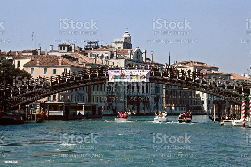 The Accademia Bridge in Venice royalty-free stock photo