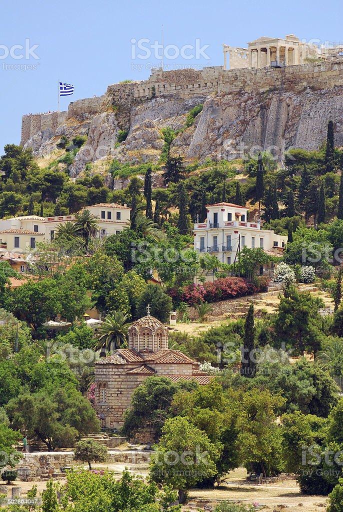 The Acropolis Hill stock photo