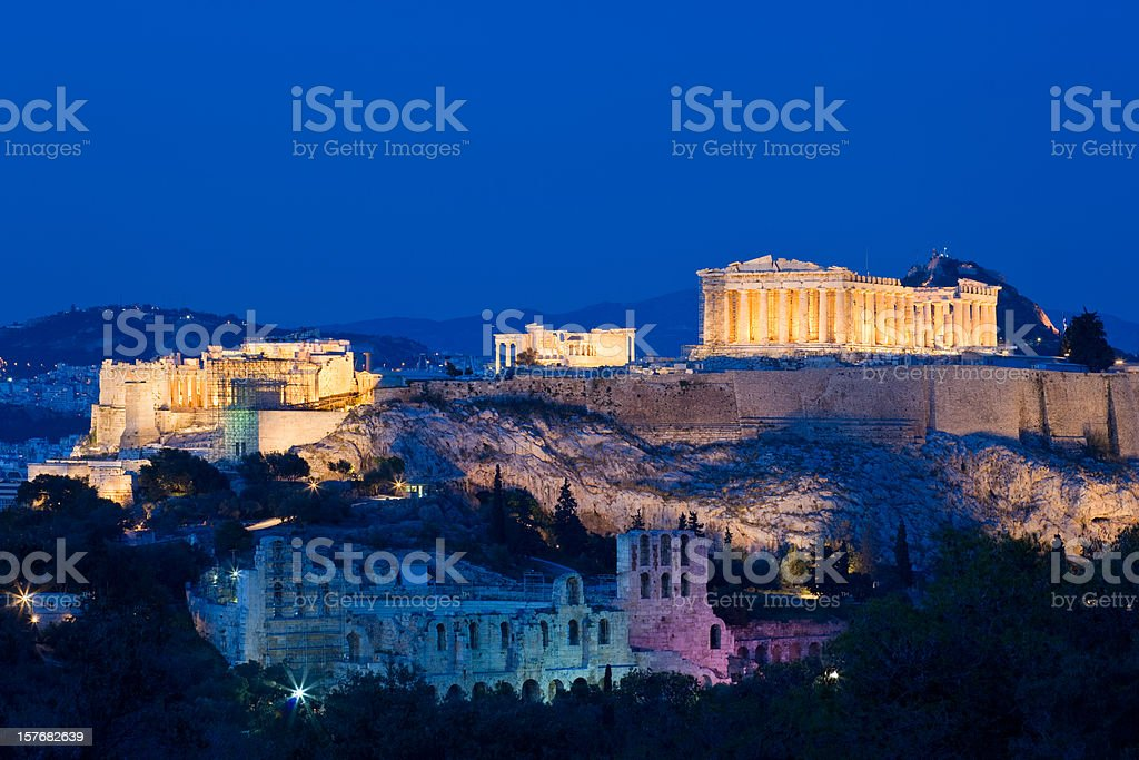 The Acropolis in Athens, Greece stock photo