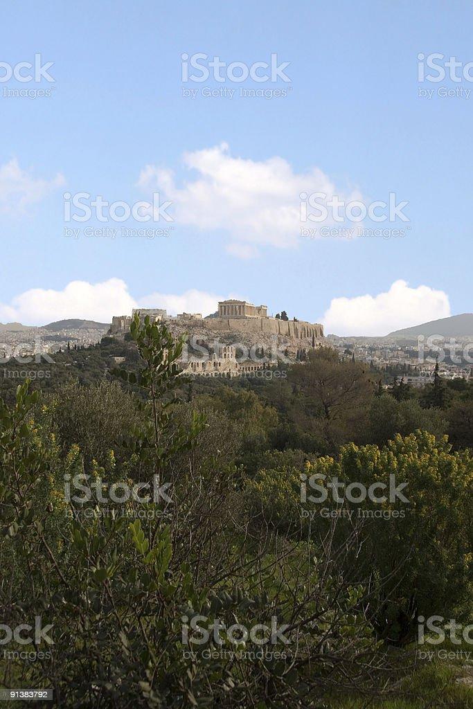 The Acropolis of Athens stock photo