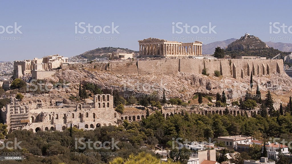 The Acropolis stock photo