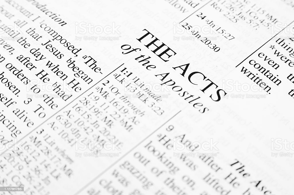 The Acts royalty-free stock photo