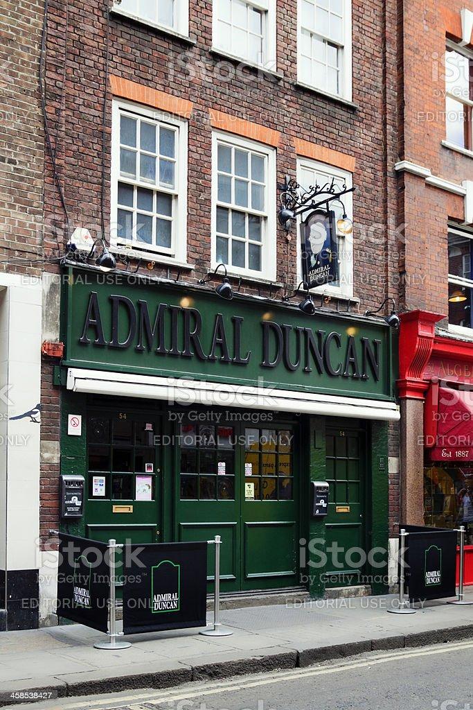 The Admiral Duncan pub, Soho stock photo