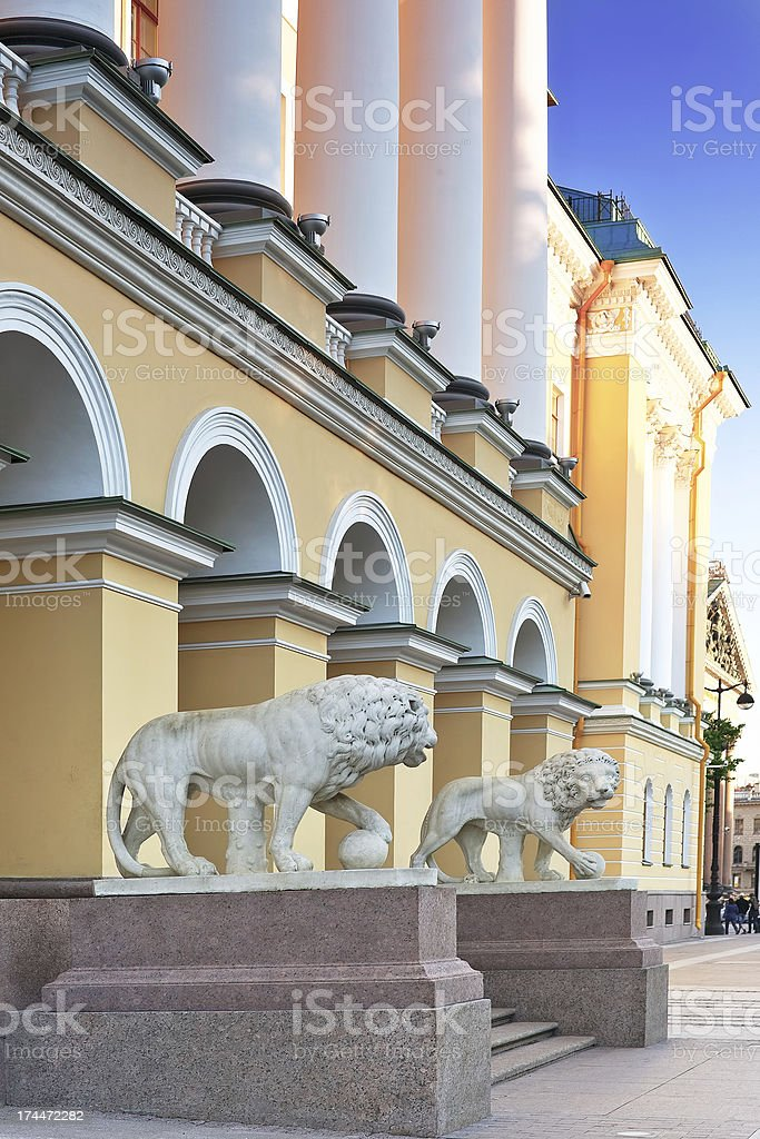 The Admiralty, main entrance view of Saint-Petersburg. royalty-free stock photo