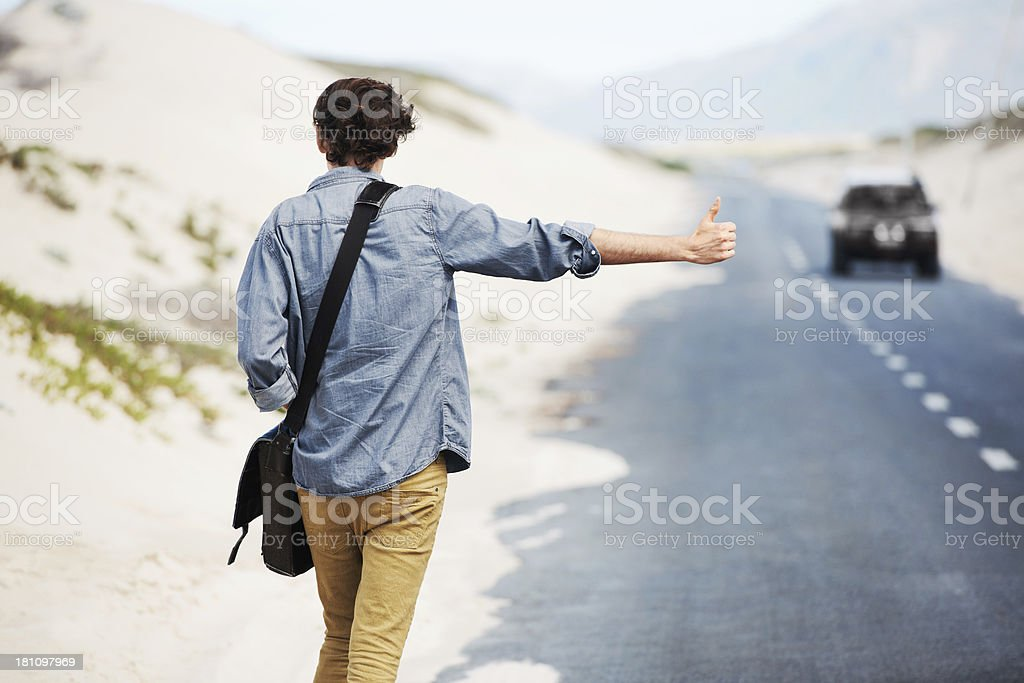 The adventurous traveller stock photo
