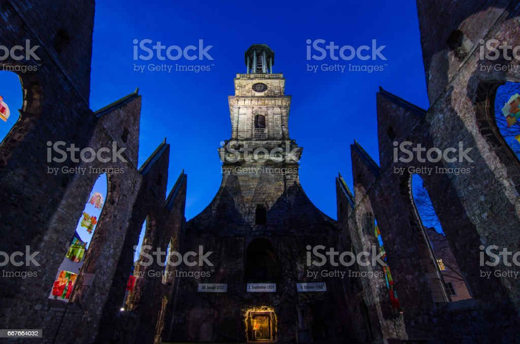 The Aegidien Church, Hannover, Germany stock photo