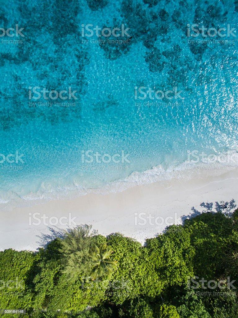 The aerial view of Tachai Island, THAILAND stock photo