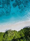 The aerial view of Tachai Island, THAILAND