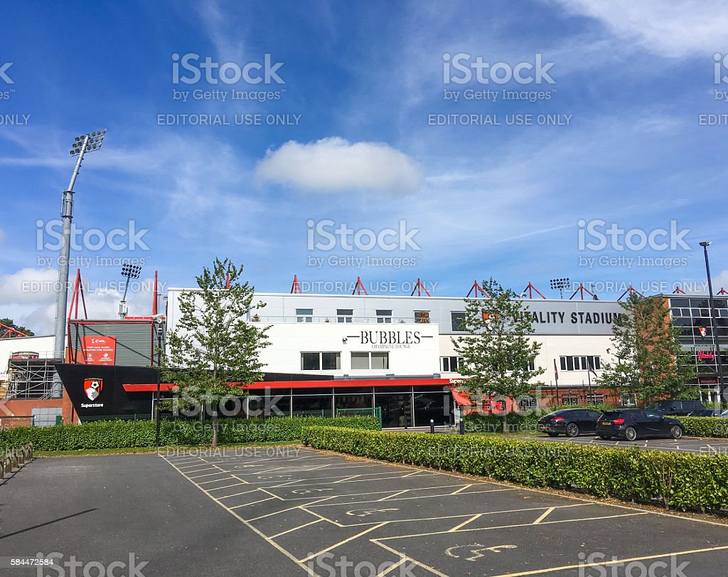 The A.F.C. Bournmouth football club, Vitality Stadium stock photo