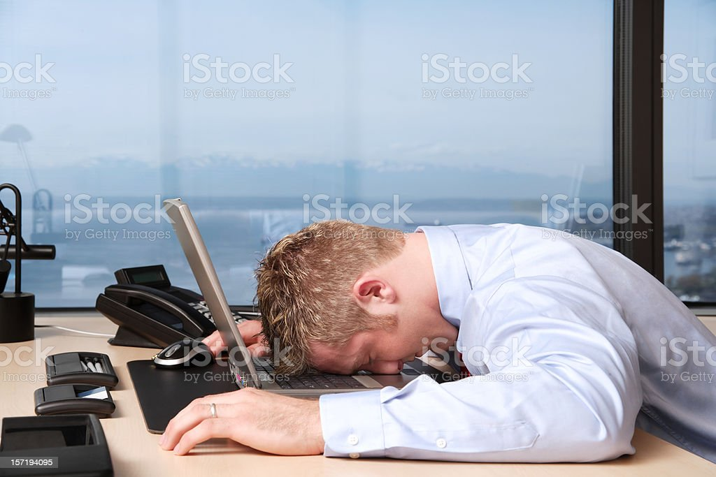 The Agony of Defeat stock photo