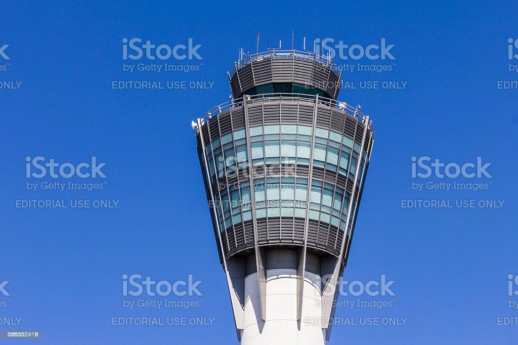 The Air Traffic Control Tower at Indianapolis International Airport I photo libre de droits