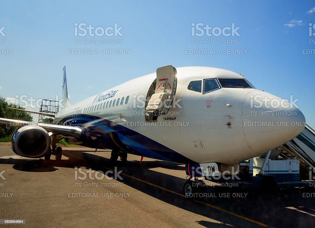 The aircraft Taimyr Airlines (NordStar Airlines) stock photo