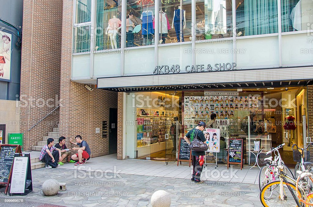 The AKB48 OFFICIAL CAFE & SHOP stock photo
