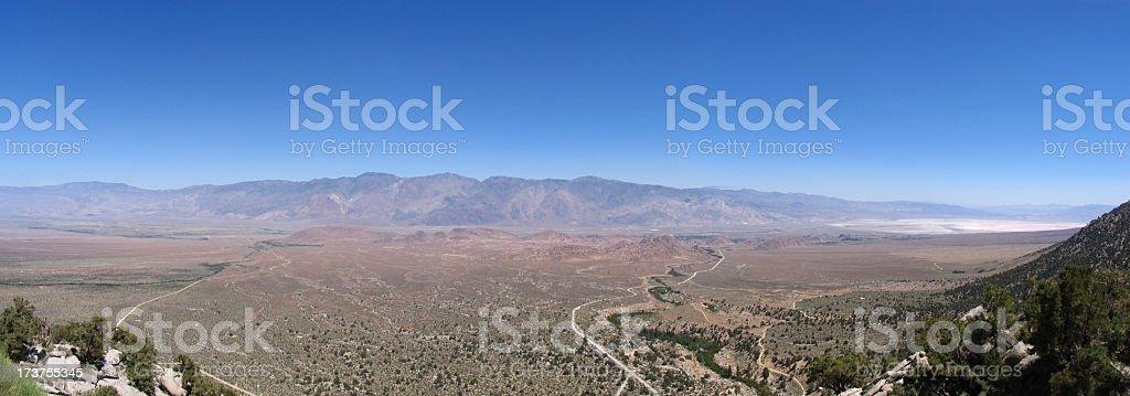 The alabama hills panorma stock photo