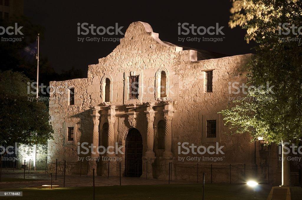 The Alamo at Night stock photo