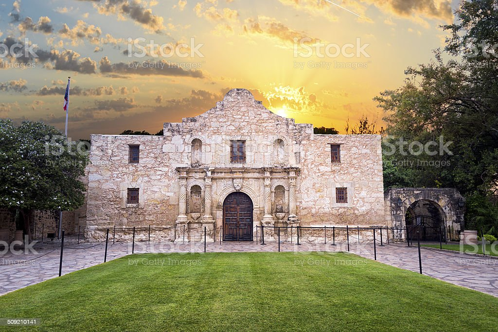 The Alamo, San Antonio, TX stock photo