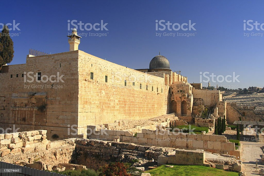 The al-Aqsa Mosque royalty-free stock photo