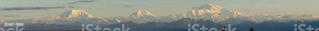 The Alaska Range at sunrise stock photo